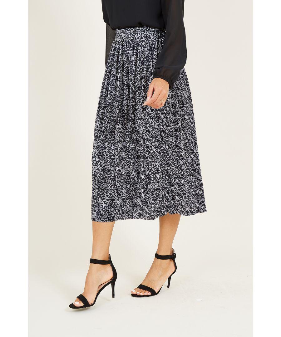 Image for Animal Print Midi Skirt