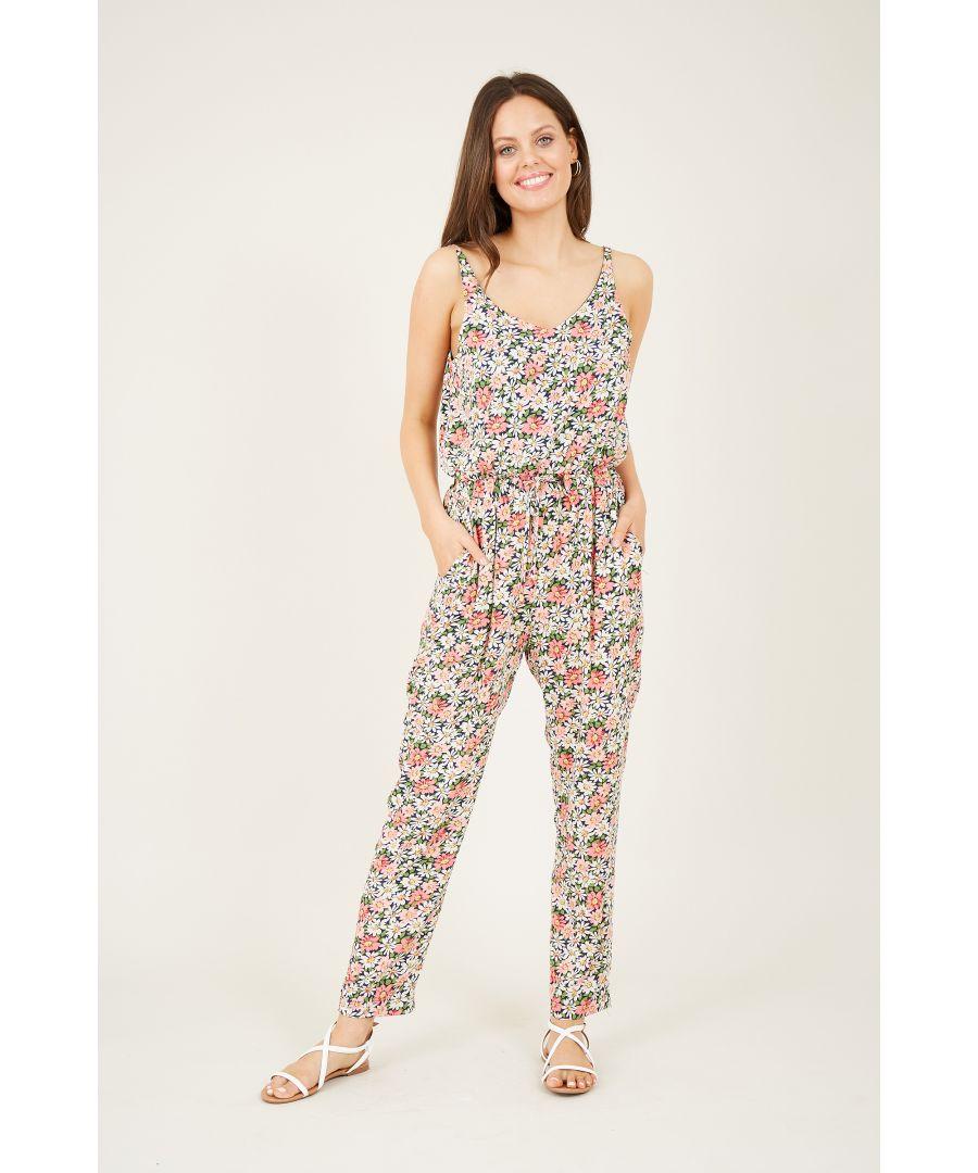 Image for Floral Drawstring Jumpsuit