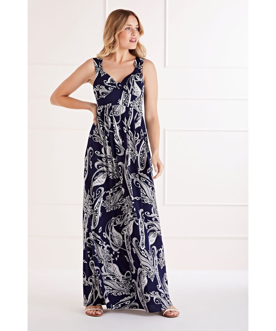 Image for Flower Sketch Maxi Dress