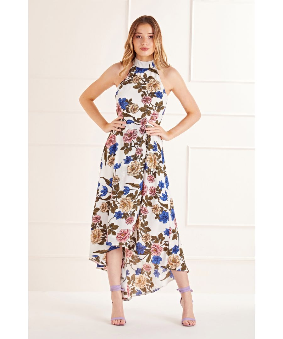 Image for Filtered Floral High Low Dress