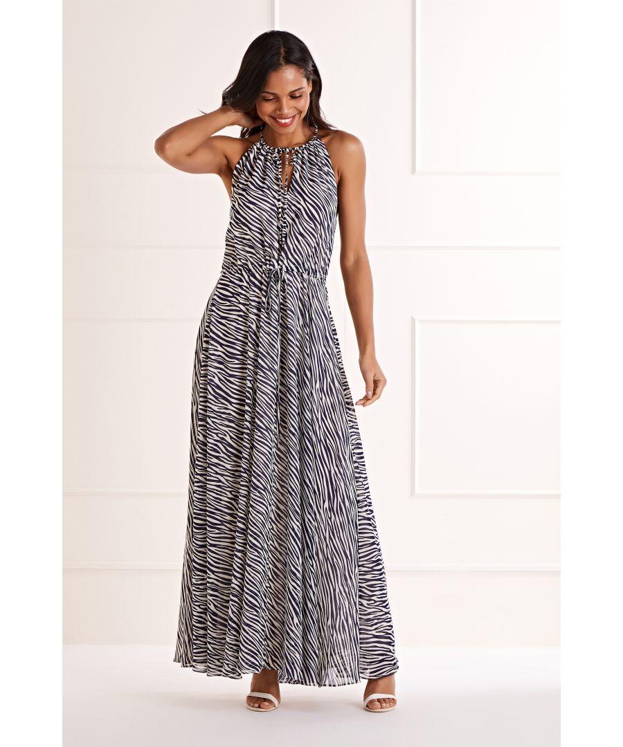 Image for Zebra Stripe Maxi Dress