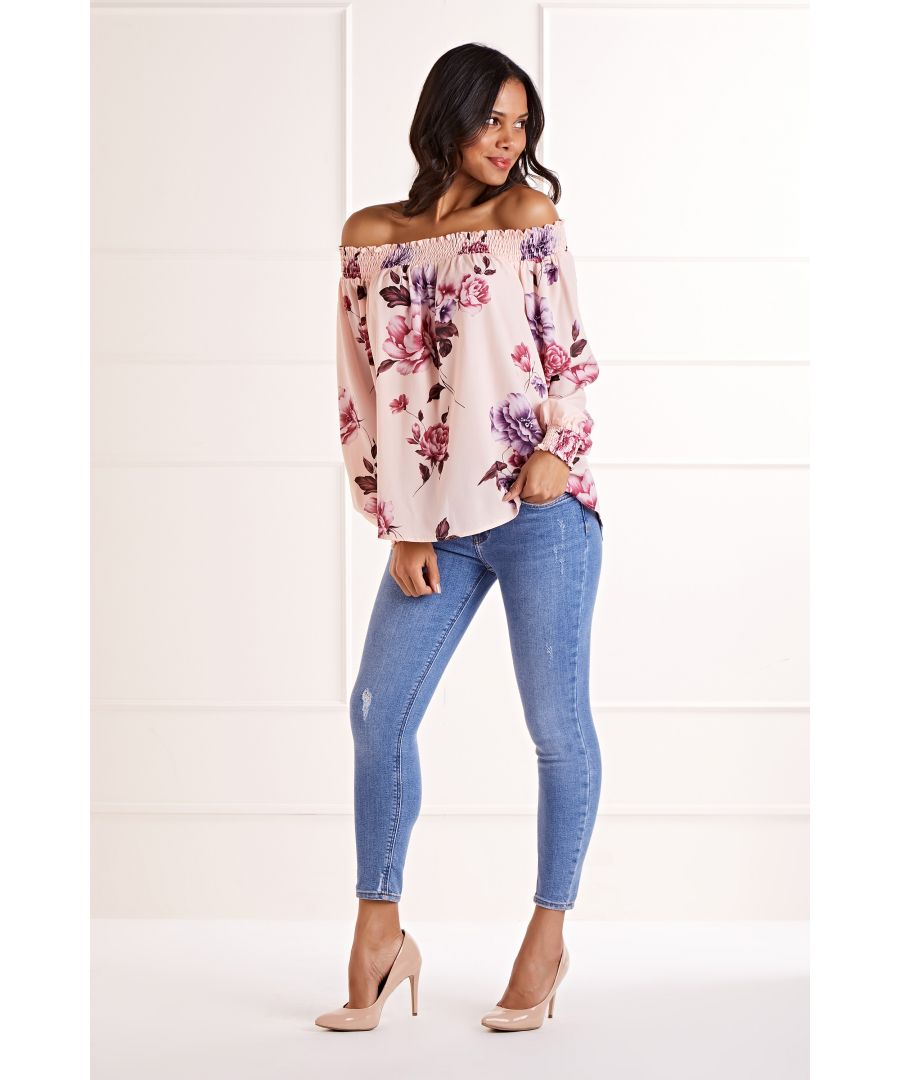 Image for Peony Flower Bardot Blouse