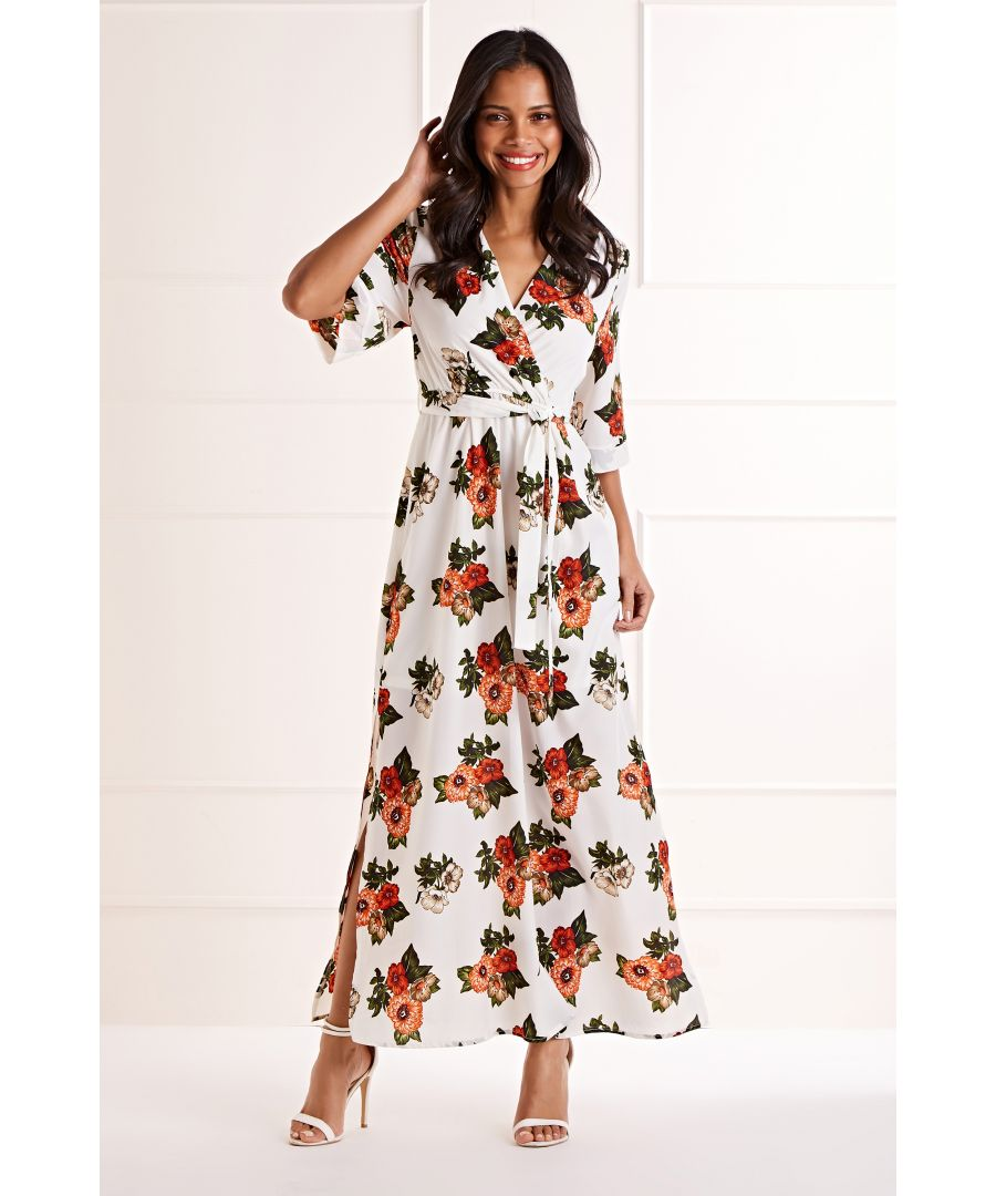 Image for Chrysanthemum Flower Maxi Dress