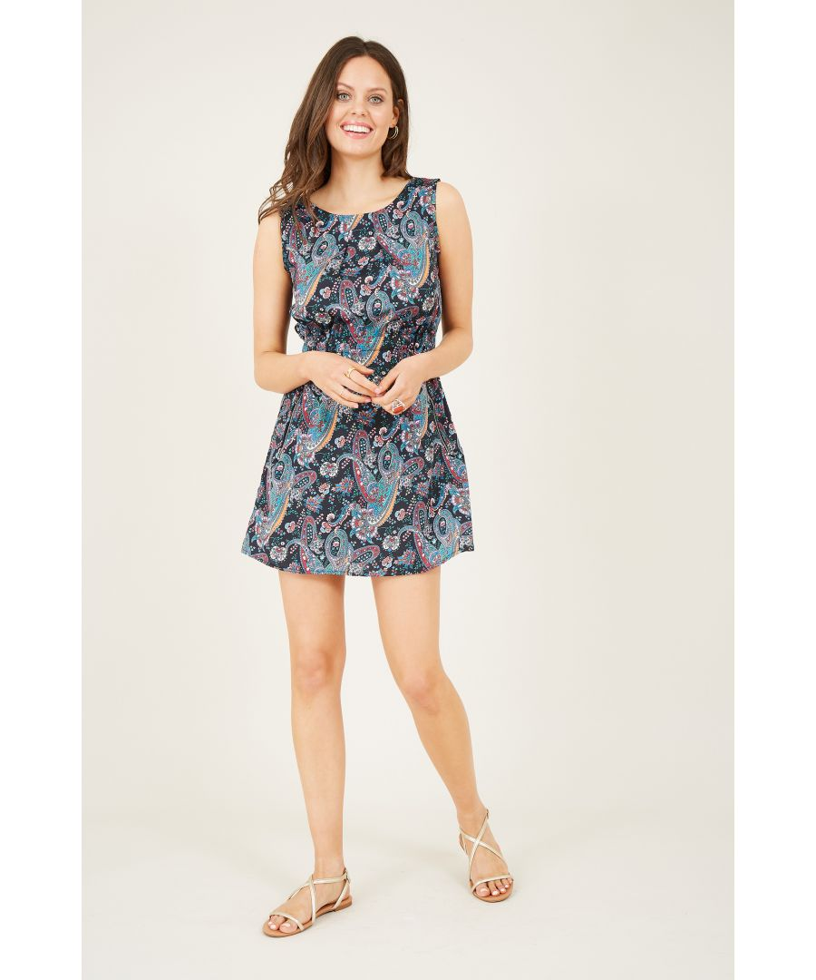 Image for Paisley Printed Two Zip Dress