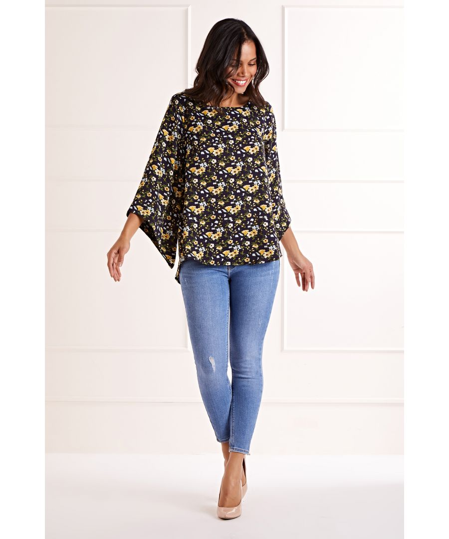 Image for Ditsy Floral Long Sleeve Blouse