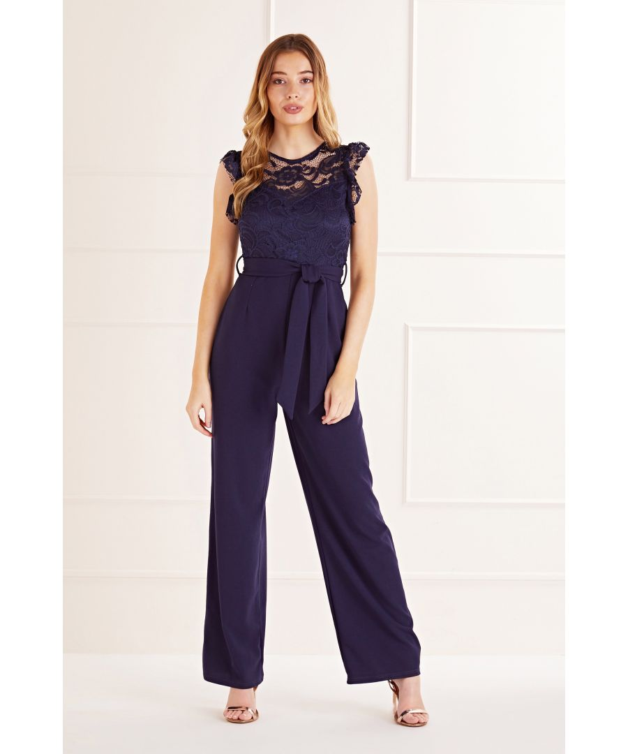 Image for Navy Lace Top Jumpsuit