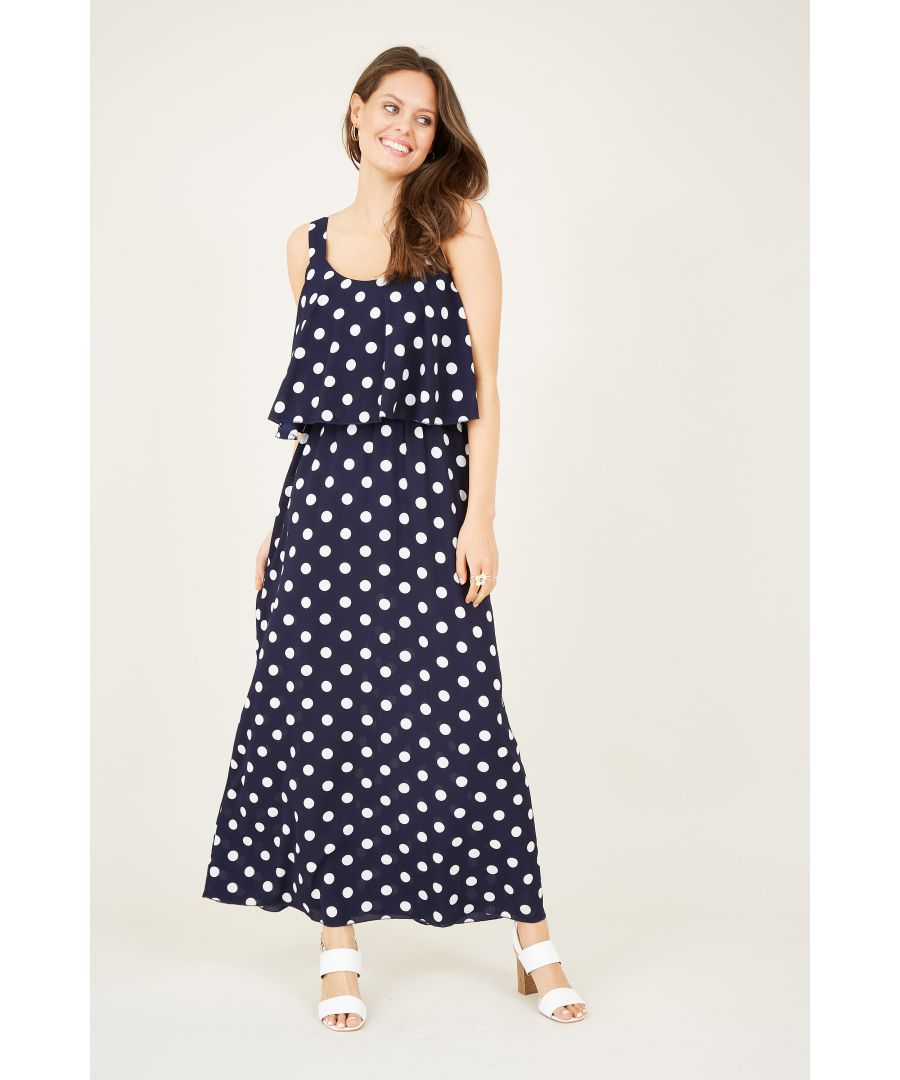 Image for Polka Dot Overlay Maxi Dress
