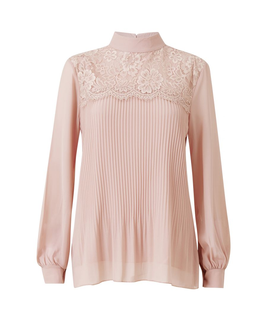 Image for High Neck Pleat Blouse