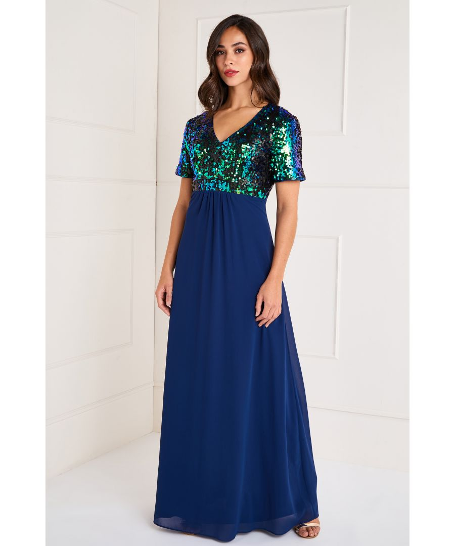 Image for Sequin Top Maxi Dress