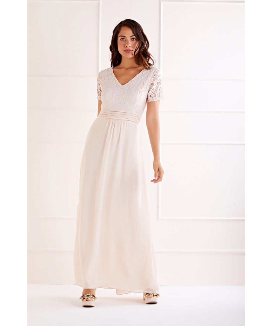 Image for Lace Top V Neck Maxi Dress