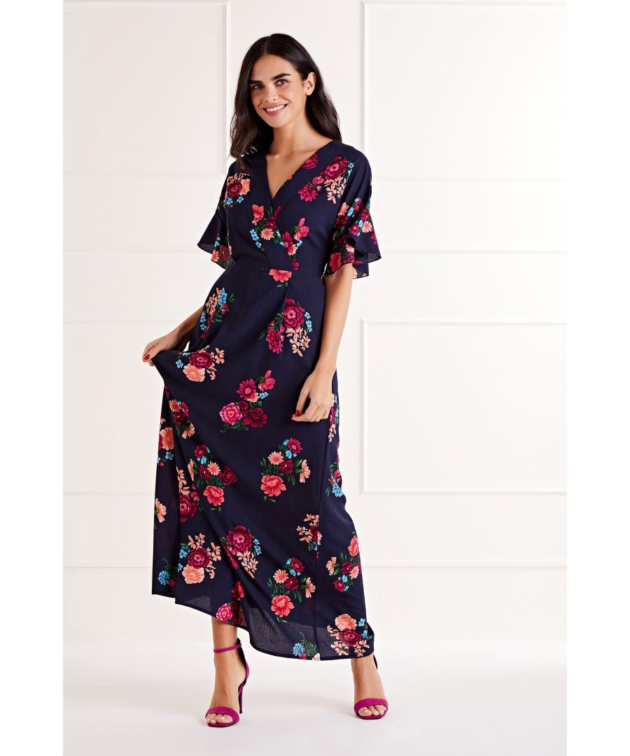 Image for Floral Printed Maxi Dress