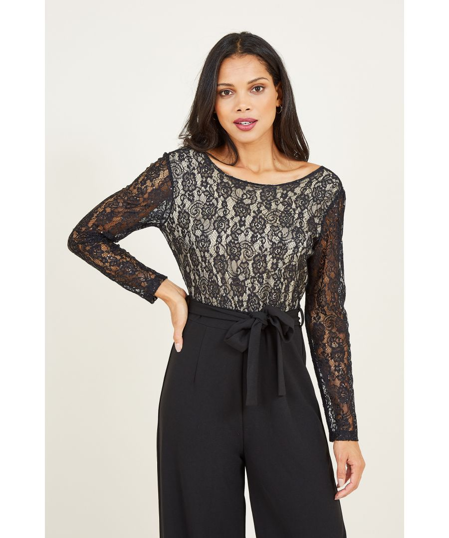 Image for Yumi Two Tone Lace Top Jumpsuit