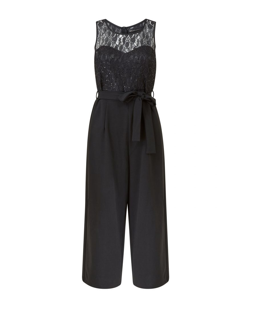 Image for Lace Top Culottes Jumpsuit