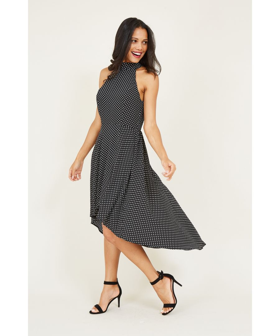 Image for Spot Print High Low Dress