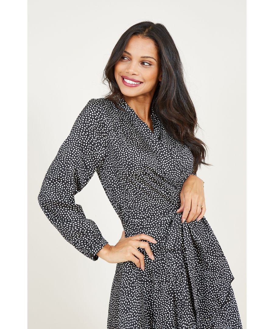 Image for Yumi Spotted Wrap Dresss