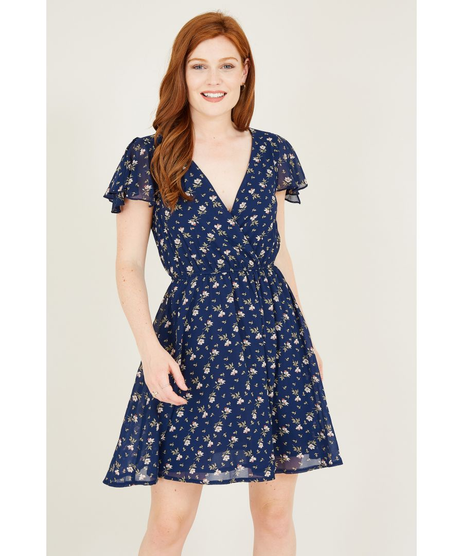 Image for Floral Ditsy Printed Skater Dress