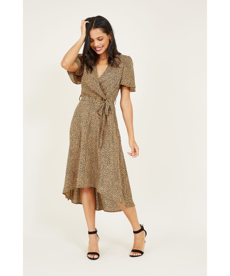 Image for Leopard Printed Dipped Hem Maxi Dress