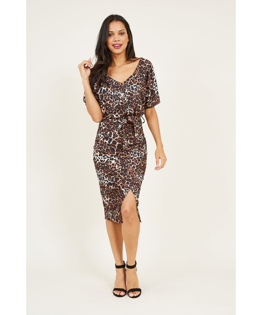 Image for Leopard Printed Bodycon Dress
