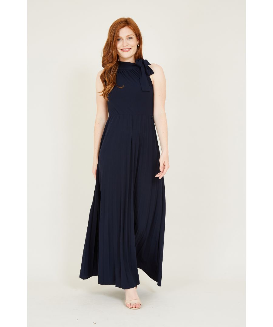 Image for Bow Detail High Neck Maxi Dress
