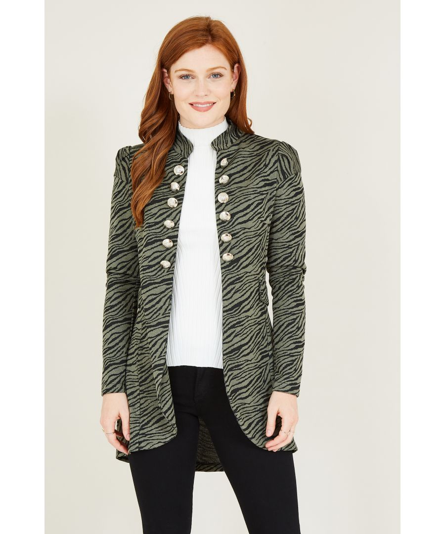 Image for Animal Printed Military Jacket