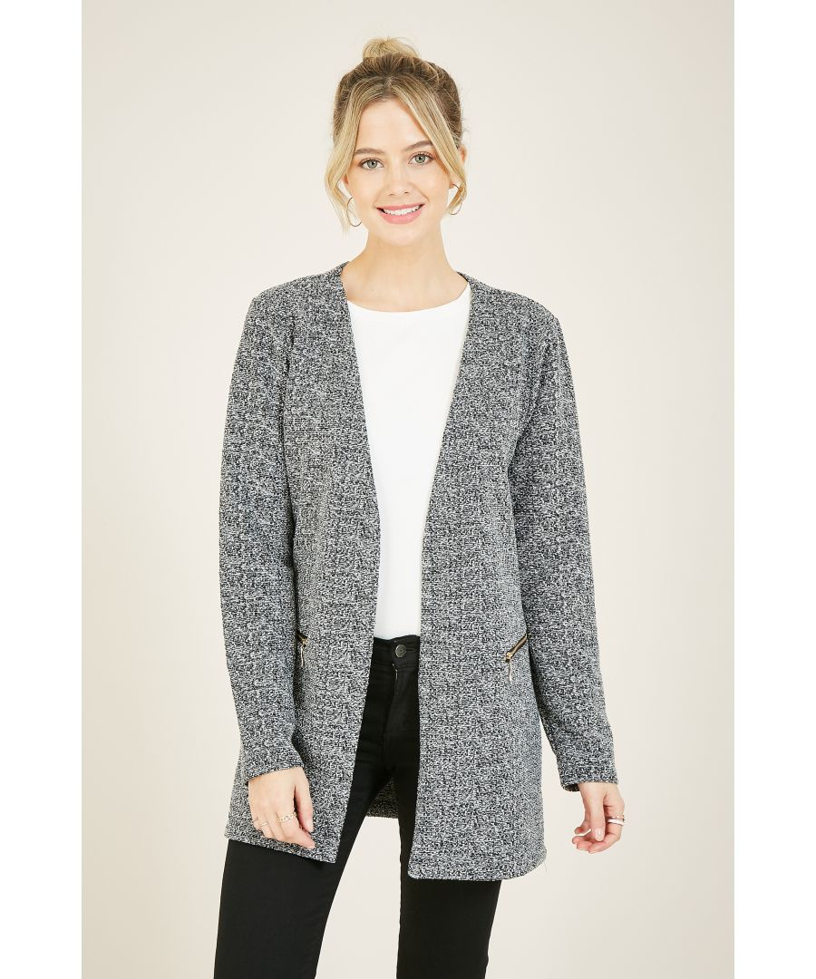 Image for Mela London Textured Two Zip Jacket