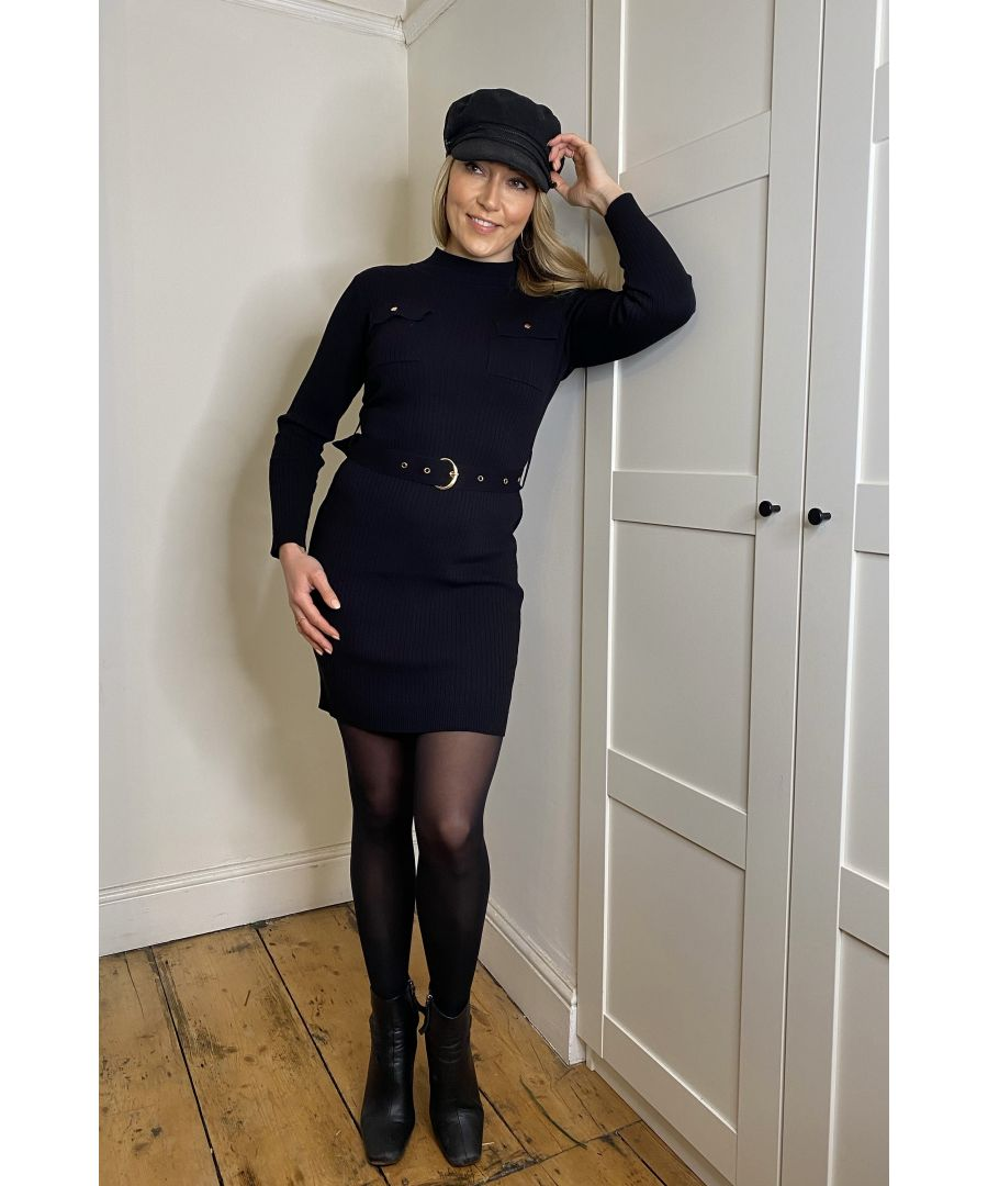 Image for Mela London Two Pocket Detail Knitted Bodycon Dress