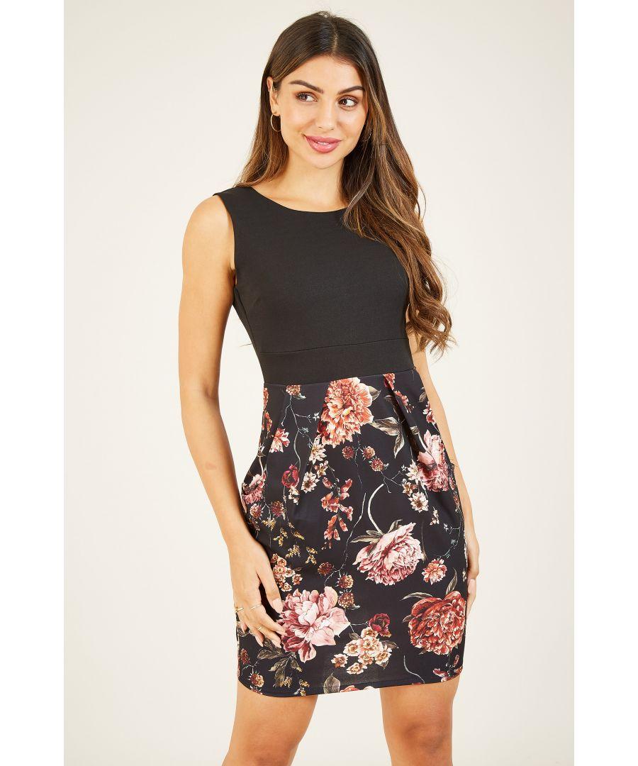 Image for Mela London Floral Bodycon Dress