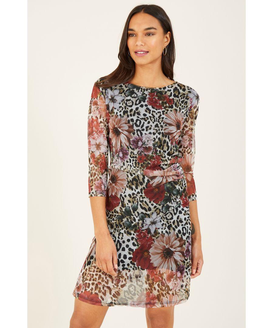 Image for Mela London Floral Mesh Bodycon Dress