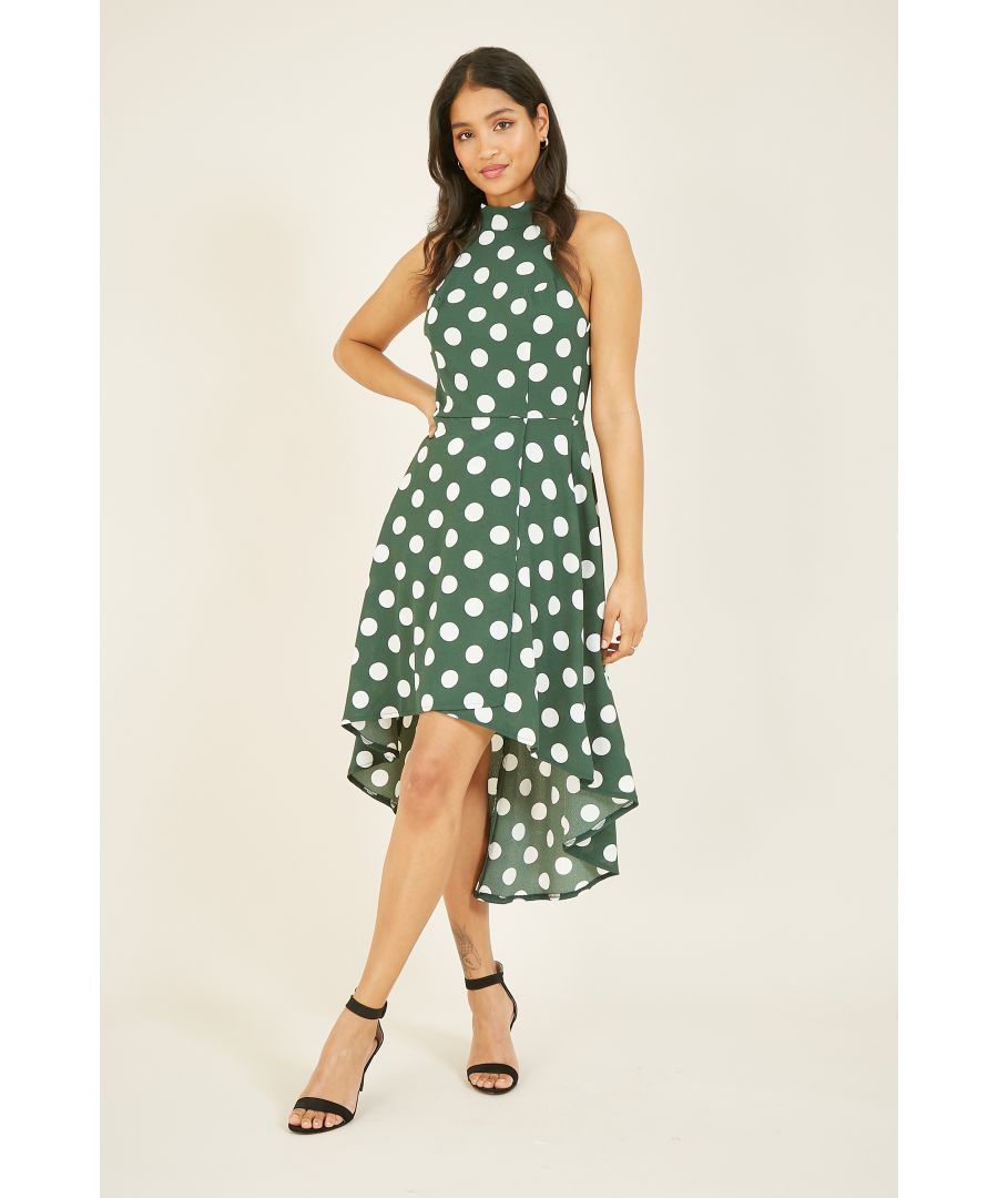 Image for Mela Polka Dot High Low Dress