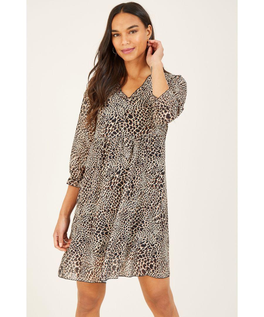 Image for MELA Animal Printed Smock Dress