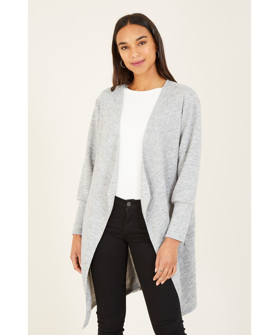 Image for Mela London Knitted Open Cardigan With Log Sleeves