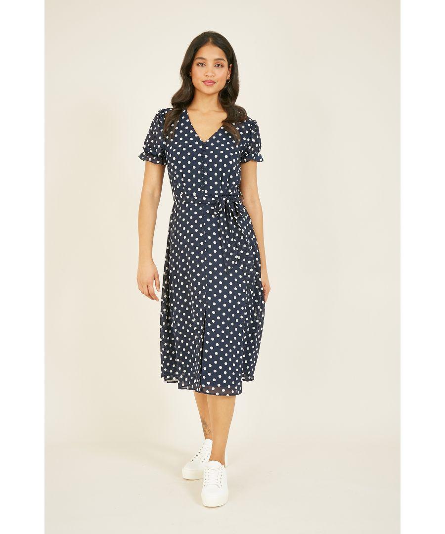 Image for MELA Polka Dot Button Down Tea Dress