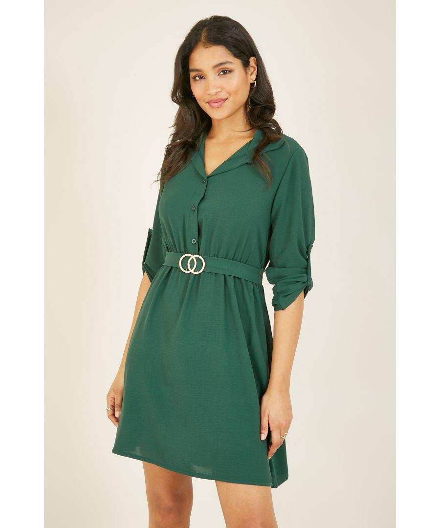 Image for Mela London Circle Ring Belt Shirt Dress