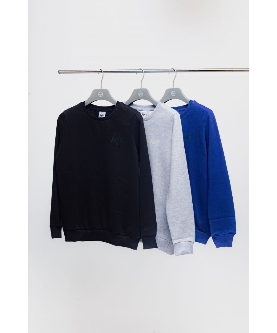 Image for Hype Three Pack Multi Kids Crew Neck