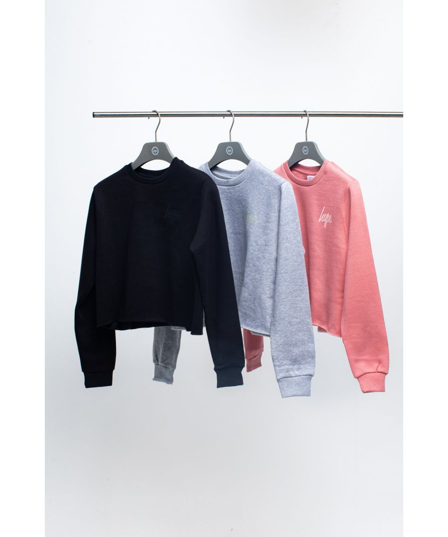 Image for Hype Three Pack Multi Kids Crop Crew Neck