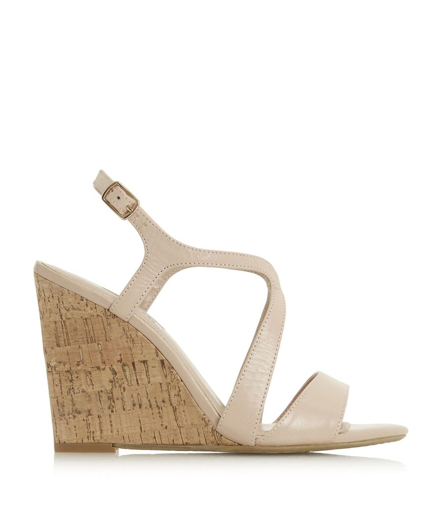 Image for Dune Ladies MOJOE Cross Strap Cork Wedged Heel