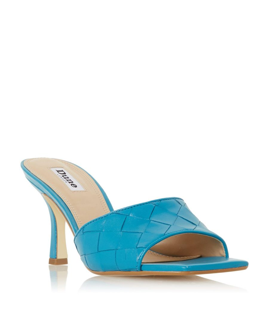 Image for Dune Ladies MONTREAL Woven Square Toe Heeled Mule Sandal