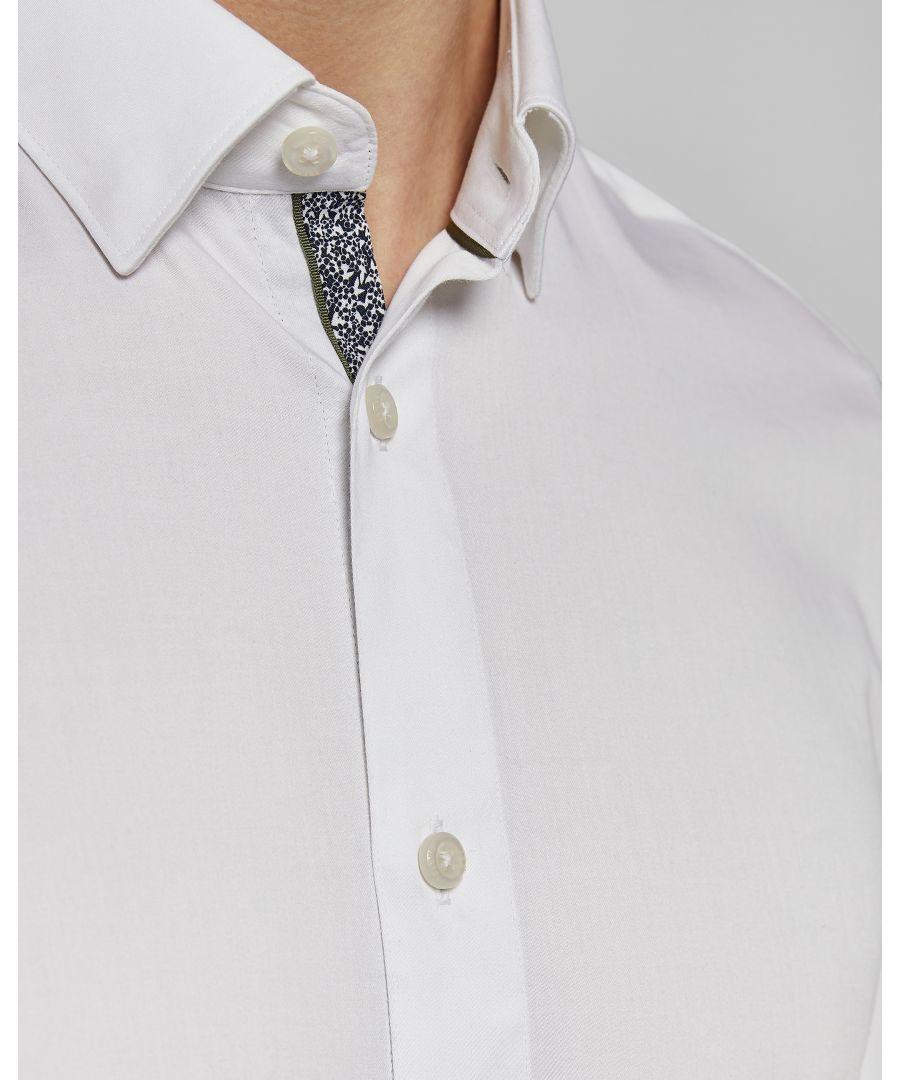 Image for Ted Baker Mufasi Long-Sleeved Plain Phormal Shirt, White