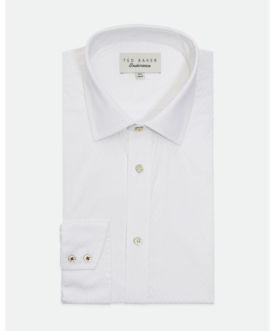 Image for Ted Baker Musckle Diamond Geo Endurance Shirt, White