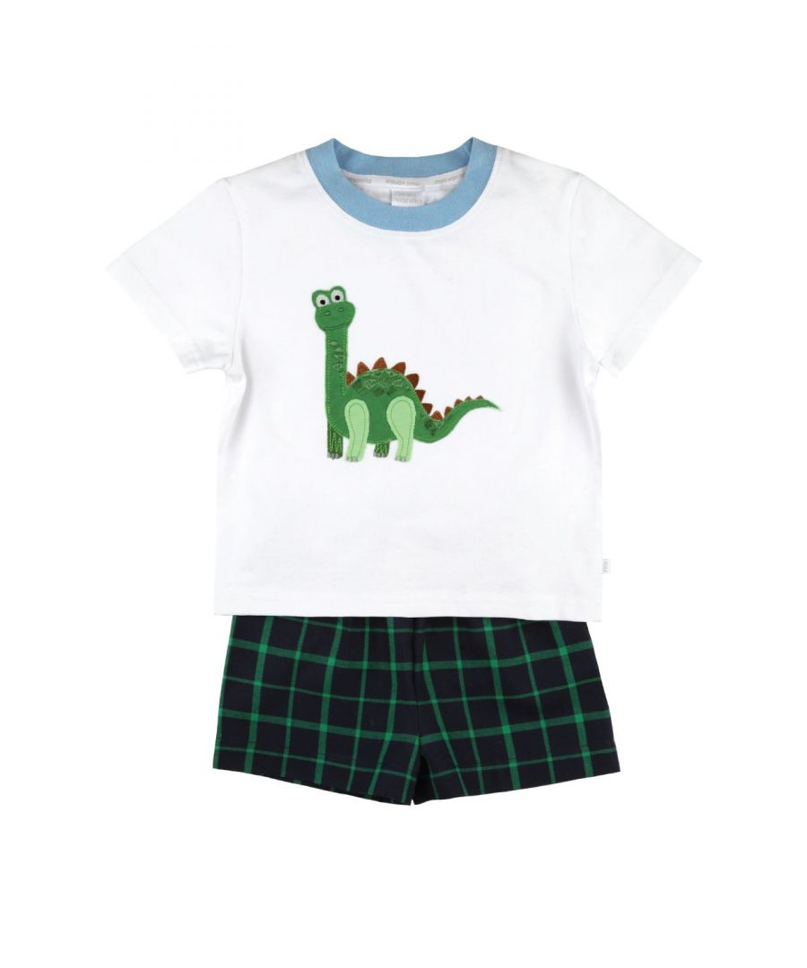 Image for Cute Dinosaur boys summer pyjamas