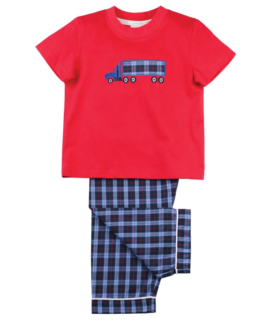 Image for Boys Super Truck Summer Cotton Pyjamas