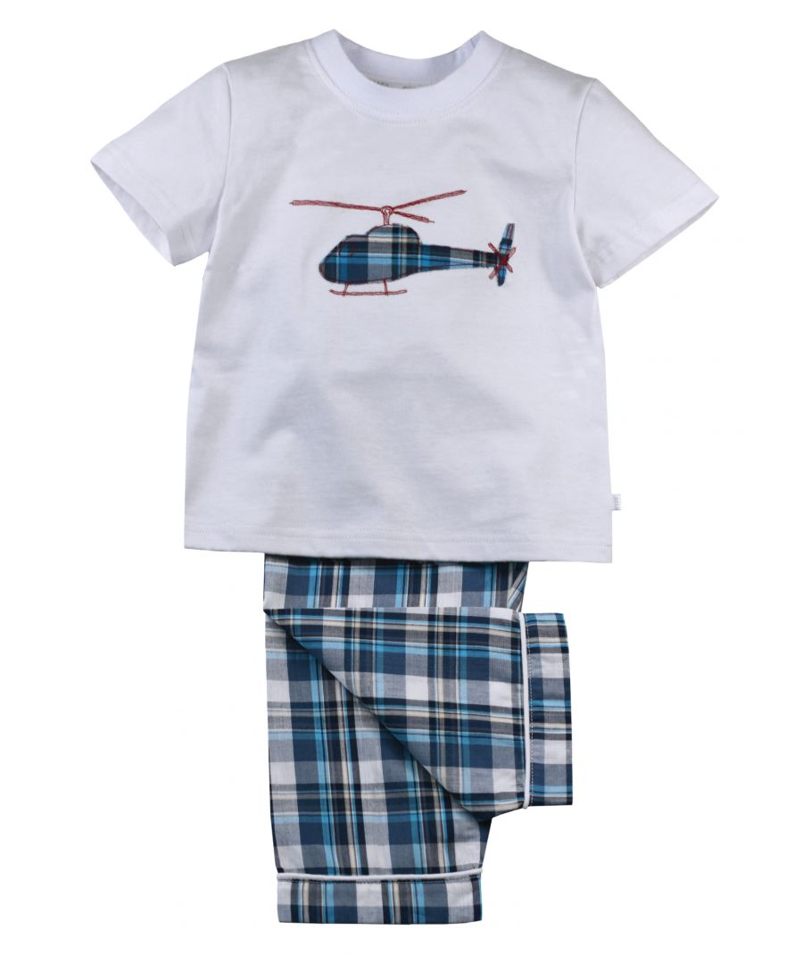 Image for Boys Helicopter Summer Cotton Pyjamas
