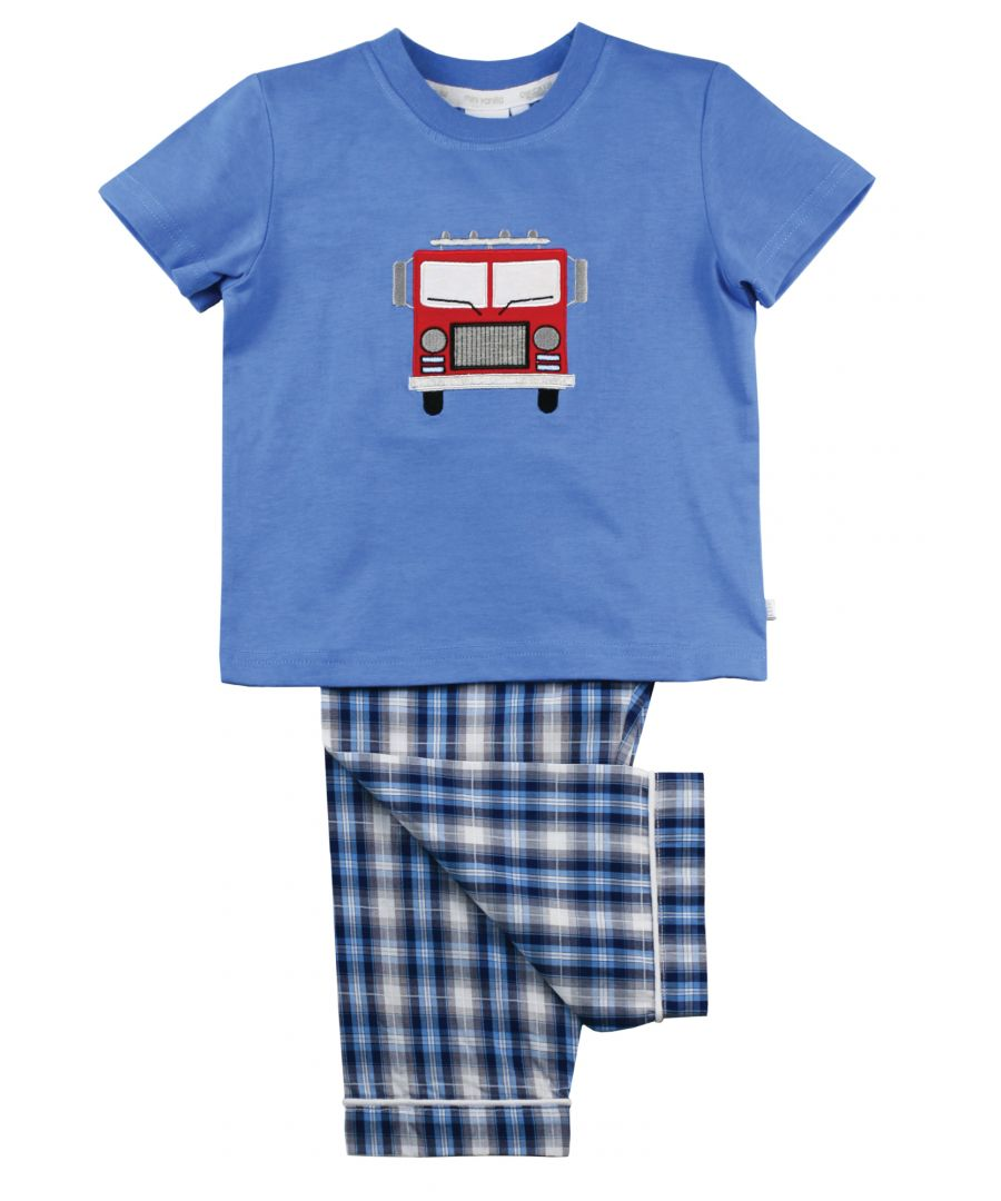 Image for Fire Engine Cotton Summer PJ's