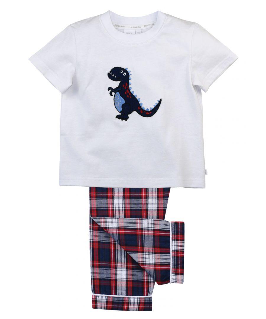 Image for Cute Dino Summer Cotton Pyjamas