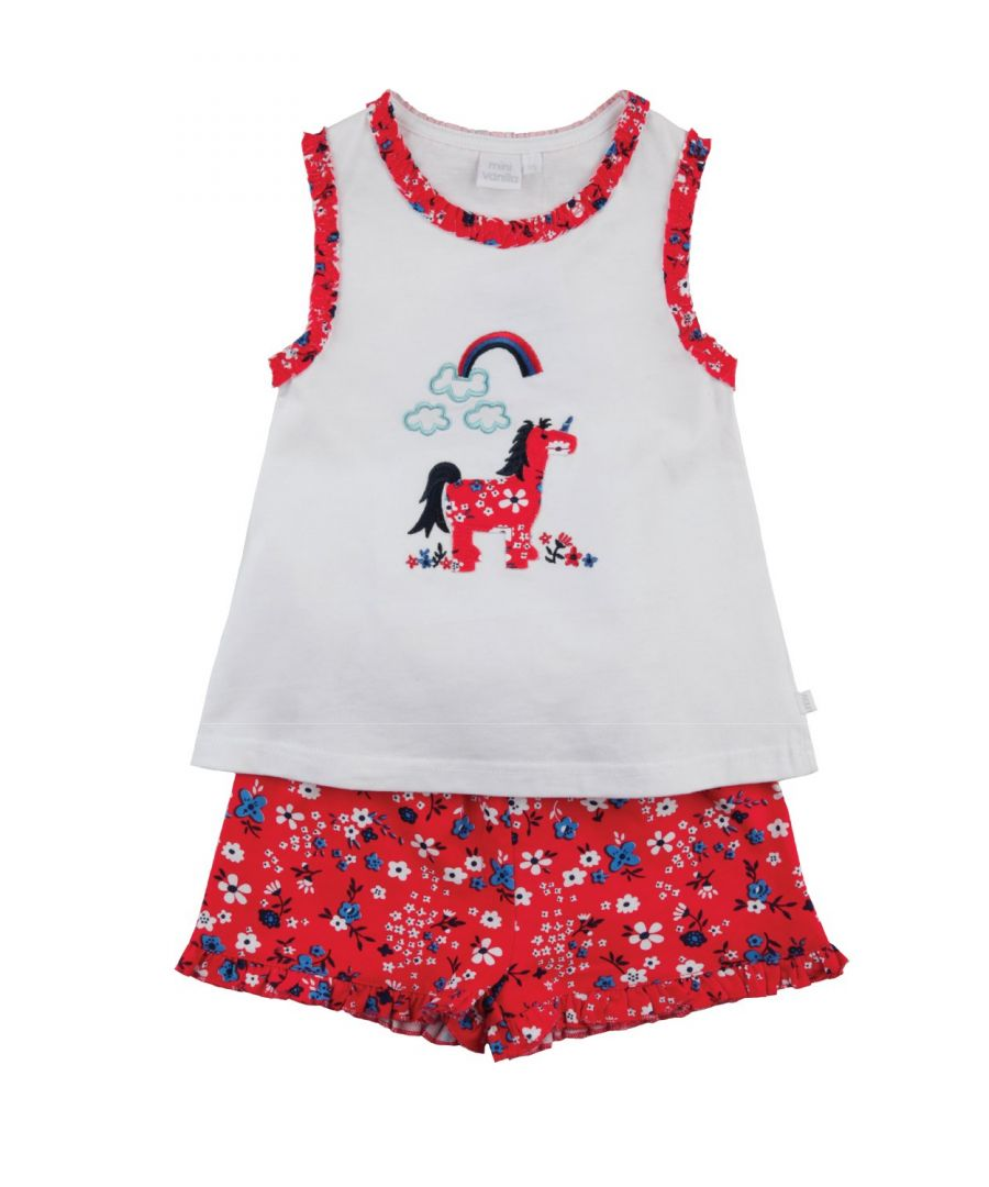 Image for Unicorn short summer Pyjamas for Girls