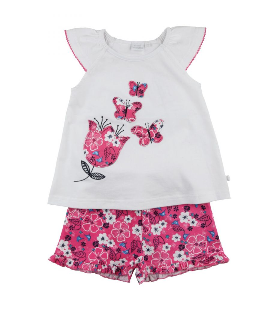 Image for Girls short summer Pyjama with Butterflies