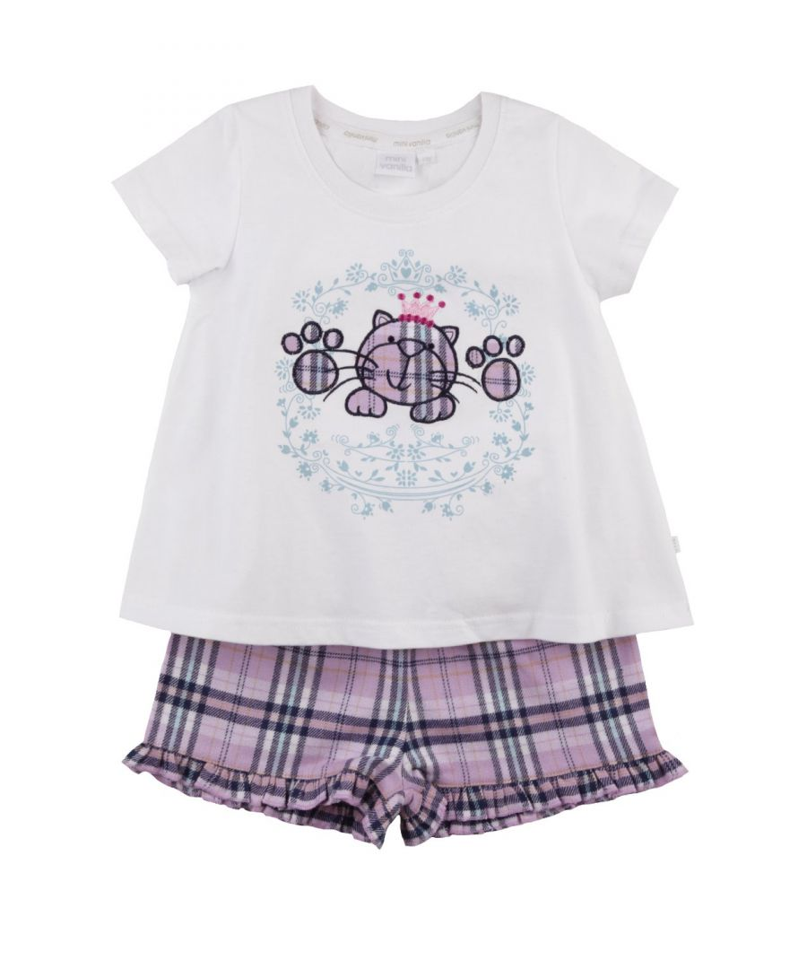 Image for Princess Kitty short summer Pyjamas for Girls