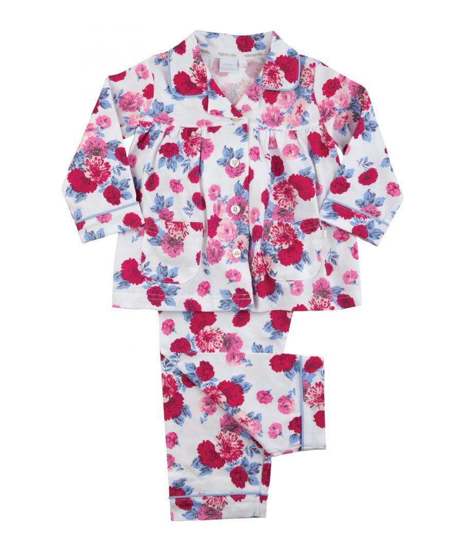 Image for Girls Traditional Rose Print Pyjamas