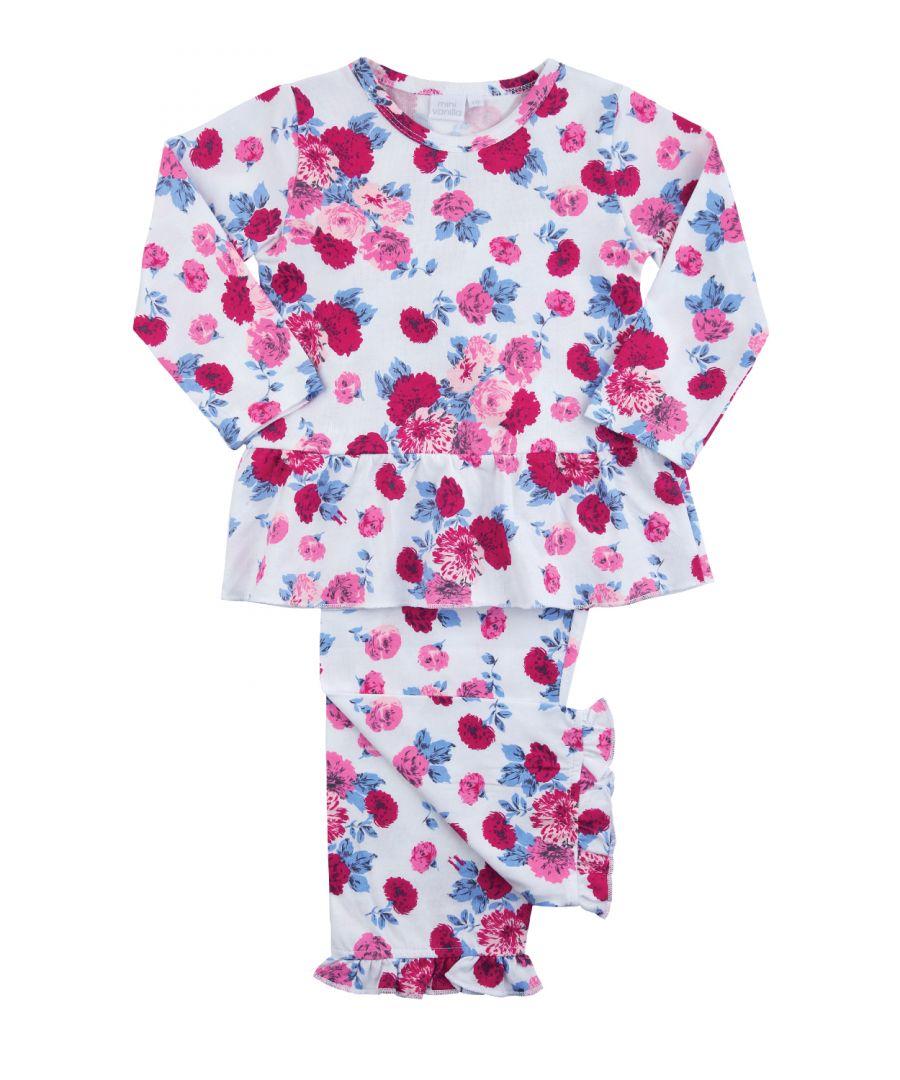 Image for Girls Peplum Rose Print Pyjamas