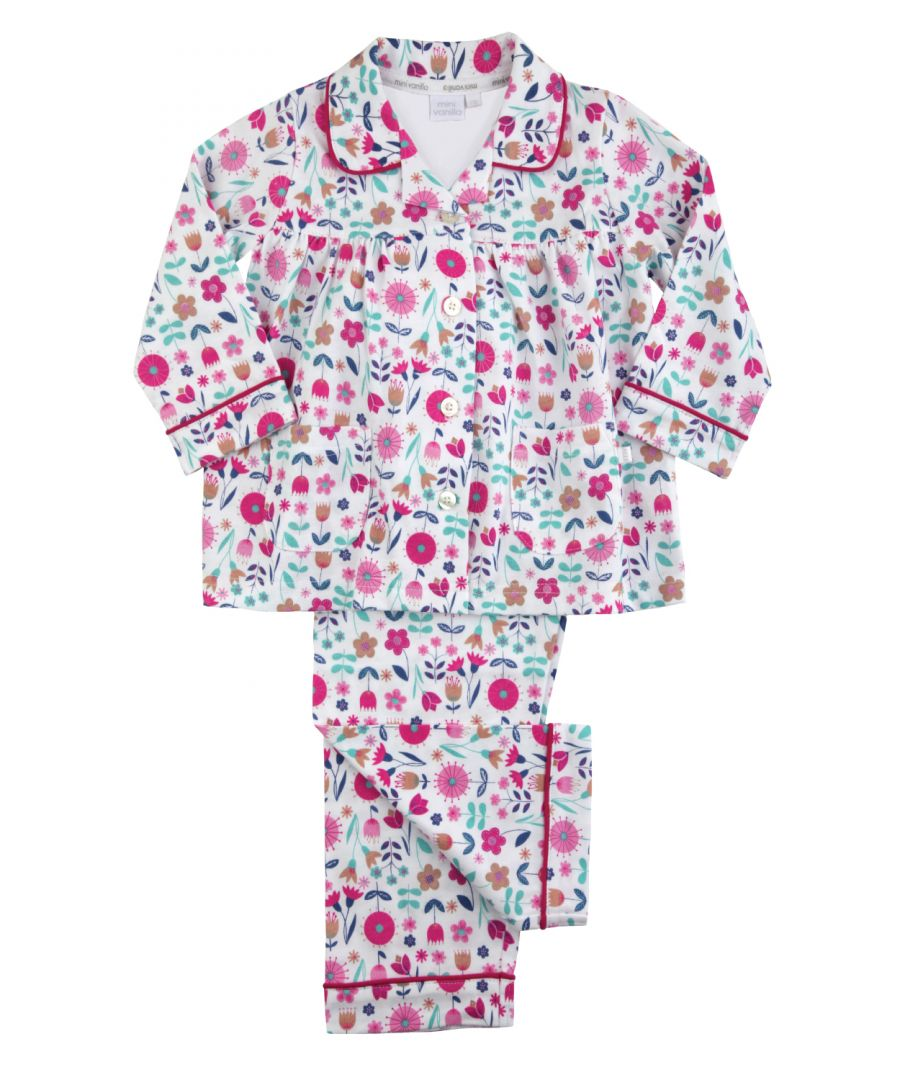 Image for Girls Traditional Floral Pyjamas